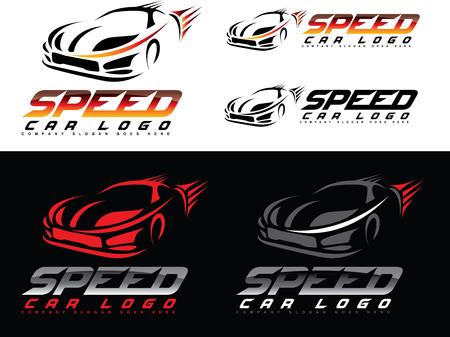 Ilustración de Speed Car Design. Creative Sport Car Icon Vector. Car shape design - Imagen libre de derechos