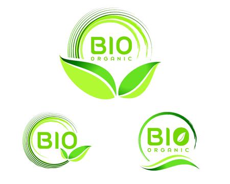 Ilustración de Bio Eco .Eco icon design. Green Bio icon badge vector. - Imagen libre de derechos