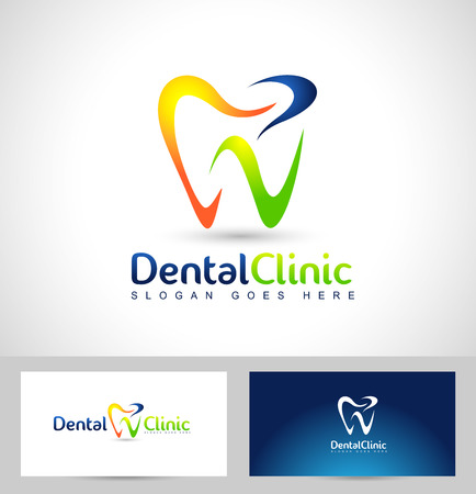 Illustration pour Dental Logo Design. Dentist Logo. Dental Clinic Creative Company Vector Logo. - image libre de droit