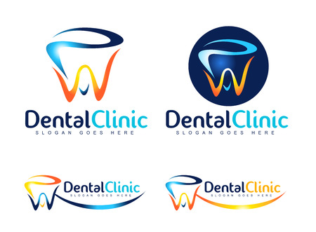 Illustration pour Dental Logo Design. Dentist Logo. Dental Clinic Creative Company Vector Logo. - image libre de droit