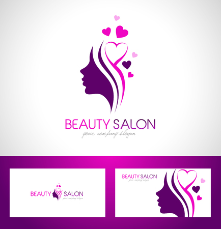 Illustration pour Beauty Female Face Logo Design.Cosmetic salon logo design. Creative Woman Face Vector. Hair Salon Logo. - image libre de droit