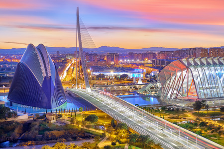 Photo for Valencia Aerial View. Modern City of arts and Sciences - Royalty Free Image