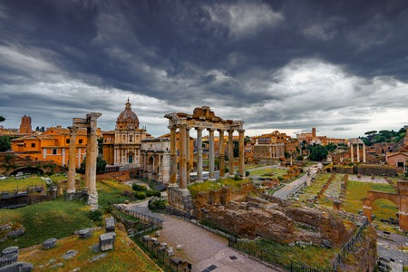 Foto per Roman Forum Architecture in Rome Italy City Center. Rome Ethernal City Architectural Details. - Immagine Royalty Free