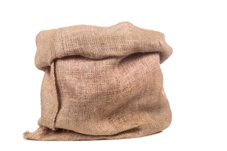 Foto de Empty burlap or jute bag. This sack is also use for sinterklaas event. - Imagen libre de derechos