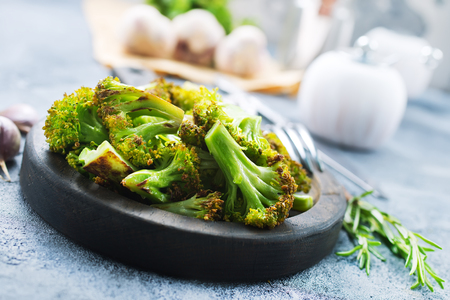 Photo for broccoli with spice and salt - Royalty Free Image