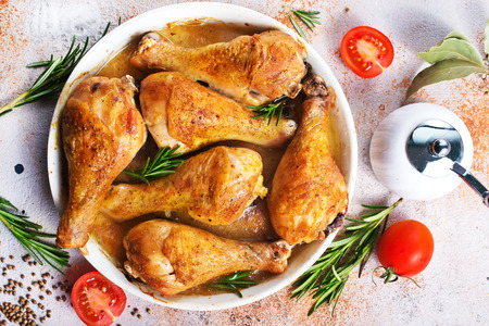 Photo for baked chicken legs with aroma spice and salt - Royalty Free Image