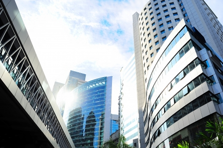 Photo pour Skyscrapers in Kuala Lumpur financial center. Malaysia - image libre de droit