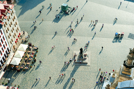 Photo for Aerial view of  Neumarkt square in Dresden, Germany - Royalty Free Image