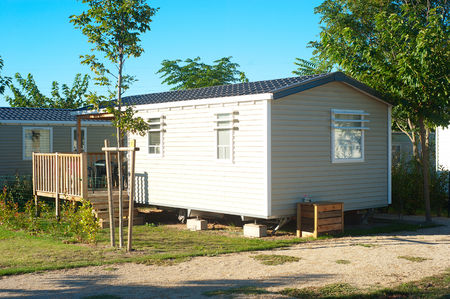 Photo for Camping site with  identical mobil homes  - Royalty Free Image