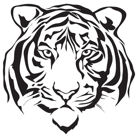 Tiger head silhouette design