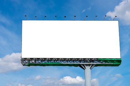 Foto de Blank billboard on beautiful sky for advertisement - Imagen libre de derechos