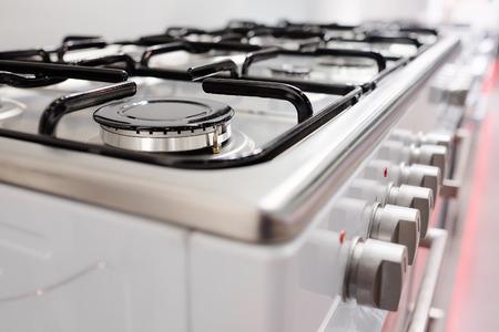 Photo pour Close up image of the gas stove - image libre de droit