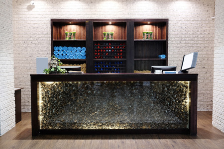 Photo for Reception desk in a spa salon - Royalty Free Image
