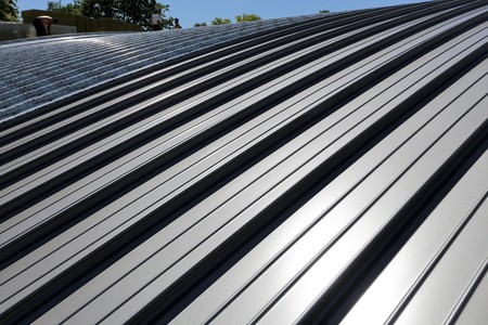 Photo pour Industry standing seam roof - image libre de droit