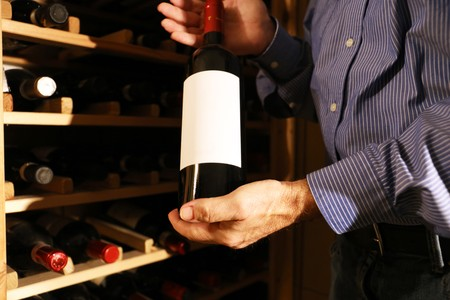 Photo for Wine tasting in the wine cellar of a winery - Royalty Free Image