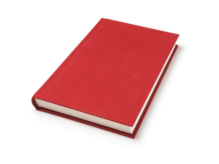 Photo pour Red lying book isolated - image libre de droit