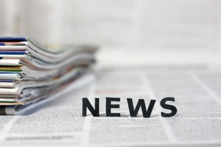 Photo for News letters on newspapers with blurred background concept  - Royalty Free Image