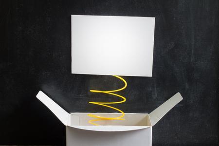Foto de April Fool's Day Abstract box with surprise and joke - Imagen libre de derechos