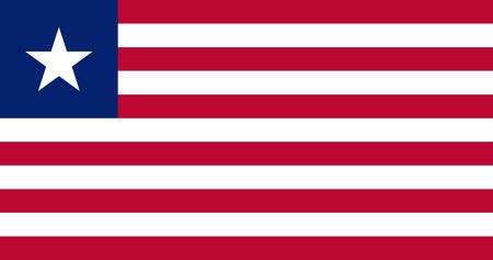 Illustration pour Flag of Liberia. Vector illustration. World flag - image libre de droit