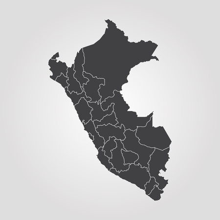 Ilustración de Map of Peru. Vector illustration. World map - Imagen libre de derechos
