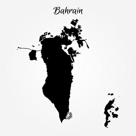 Illustration pour Kingdom of Bahrain map regions. Vector illustration. World map - image libre de droit