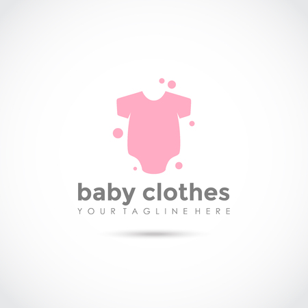 Illustration pour Baby Clothes Logo Design. Vector Illustrator Eps.10 - image libre de droit