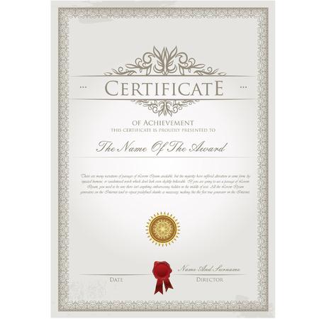 Illustration pour Certificate template vector - image libre de droit