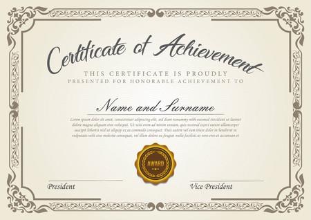 Illustration for certificate vintage model - Royalty Free Image