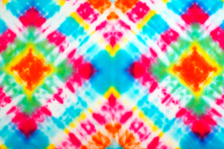 Photo for Blur fabric Tie dye bright colors texture background. - Royalty Free Image
