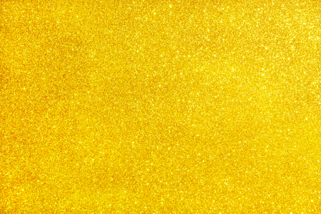 Foto de Gold glitter texture sparkling shiny wrapping paper background. Copy space Christmas holiday seasonal wallpaper decoration, greeting and wedding invitation card design element - Imagen libre de derechos