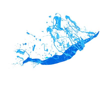 Ilustración de Swimming man. Vector blue splash paint on white - Imagen libre de derechos