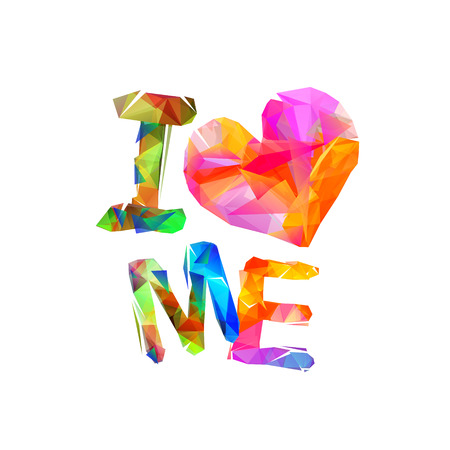 Illustration for Multicolored i love me quote isolated. - Royalty Free Image