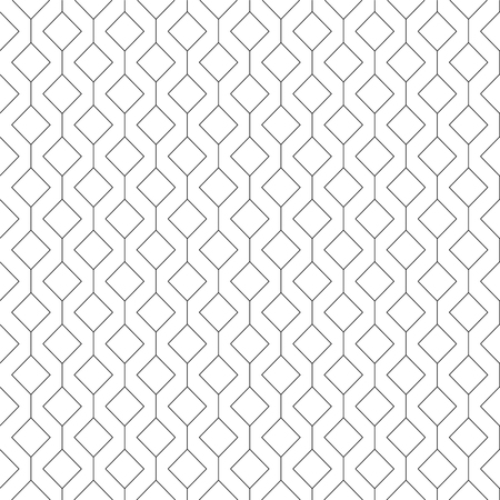 Illustration pour Vector abstract seamless pattern - linear rhombuses background - image libre de droit