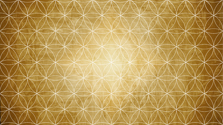 Photo pour Sacred geometry in flower pattern shape on old paper texture - image libre de droit