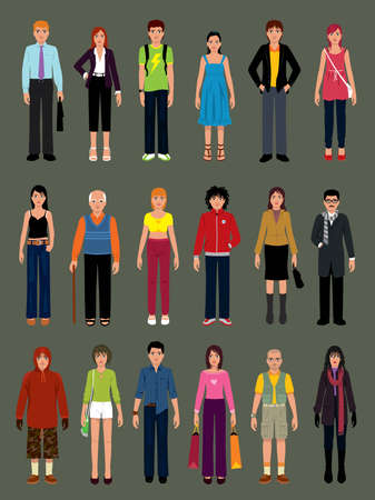 Pack of people in various situations. More illustrations in my portfolio.