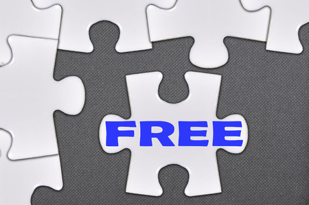 The white jigsaw puzzle written word free.