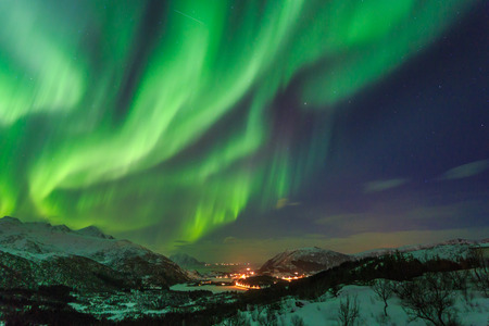 Photo for Northern Lights in Norway - Royalty Free Image