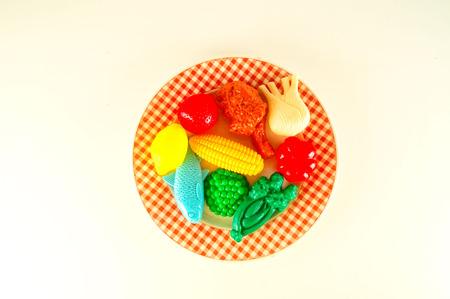 Foto de Photo picture of Different Plastic Fruits for Decoration - Imagen libre de derechos