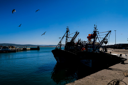 Photo for fishing boat in the sea, beautiful photo digital picture - Royalty Free Image