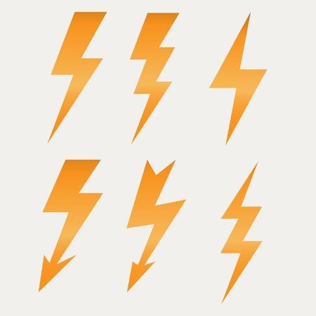 Illustration for Lightning icon flat design long shadows illustration. - Royalty Free Image