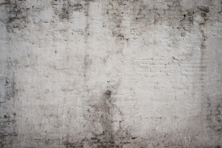 Photo pour White grey old vintage cement street rusty grunge aged rough brick wall texture background - image libre de droit
