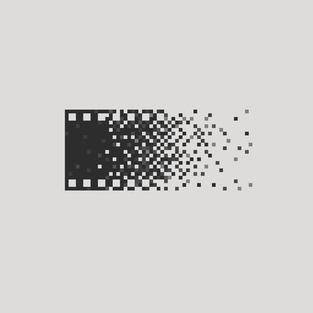 Illustration pour Photo concept analogue digital versus film photography  - image libre de droit