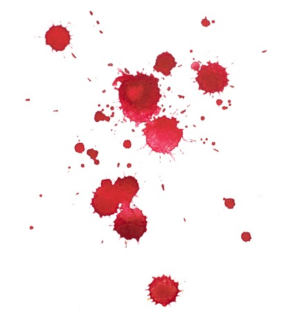 Photo pour Abstract watercolor aquarelle hand drawn colorful shapes art red color paint or blood splatter stain. - image libre de droit