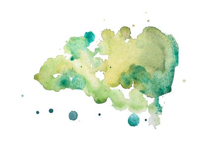 Photo pour Abstract watercolor aquarelle hand drawn colorful shapes art paint splatter stain on white background - image libre de droit