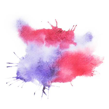 Photo for colorful retro vintage abstract watercolour aquarelle paint. - Royalty Free Image