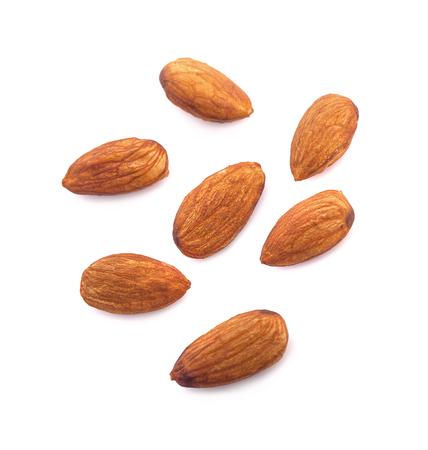 Photo pour Almonds isolated on white background - image libre de droit