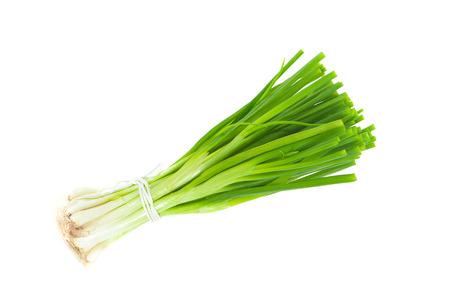 Photo pour green onion isolated on white background - image libre de droit