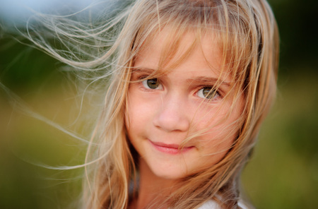 Photo for Portrait of the charming girl of 9-10 years. - Royalty Free Image
