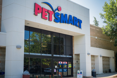 August 6, 2017 Sunnyvale/CA/USA - Petsmart storefront, San Francisco bay area