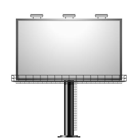 Ilustración de detailed illustration of a black advertising sign isolated on white - Imagen libre de derechos